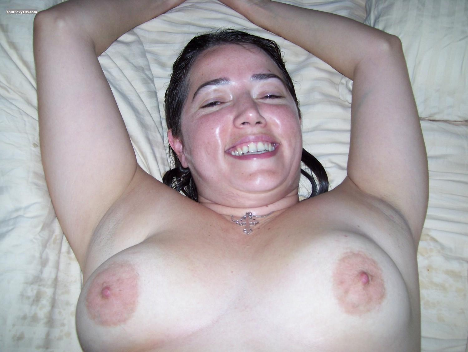 Tit Flash: Big Tits - Topless Stevey from United States